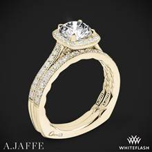 18k Yellow Gold A. Jaffe MES754Q Seasons of Love Halo Diamond Wedding Set | Whiteflash