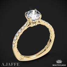 18k Yellow Gold A. Jaffe MES755Q Seasons of Love Diamond Engagement Ring | Whiteflash