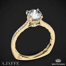 18k Yellow Gold A. Jaffe MES771Q Art Deco Diamond Engagement Ring | Whiteflash