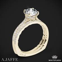 18k Yellow Gold A. Jaffe MES771Q Art Deco Diamond Wedding Set | Whiteflash