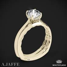 18k Yellow Gold A. Jaffe MES837Q Solitaire Wedding Set   Whiteflash