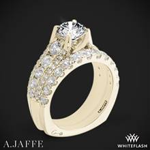 18k Yellow Gold A. Jaffe MES898 Diamond Wedding Set | Whiteflash