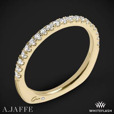18k Yellow Gold A. Jaffe MRS577 Metropolitan Diamond Wedding Ring