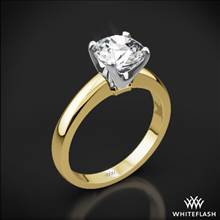 18k Yellow Gold Broadway Solitaire Engagement Ring with White Gold Head | Whiteflash