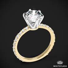 18k Yellow Gold Cadence Diamond Engagement Ring with White Gold Head | Whiteflash