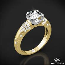 18k Yellow Gold Champagne Diamond Engagement Ring with White Gold Head | Whiteflash
