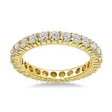 18K Yellow Gold Common Prong Diamond Eternity Ring (1.15 - 1.35 cttw.) | B2C Jewels