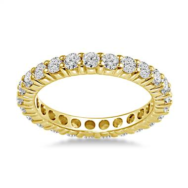 18K Yellow Gold Common Prong Diamond Eternity Ring (1.15 - 1.35 cttw.)