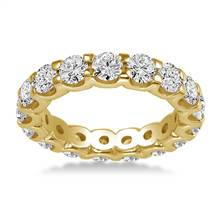 18K Yellow Gold Common Prong Diamond Eternity Ring (2.80 - 3.40 cttw.) | B2C Jewels