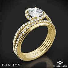 18k Yellow Gold Danhov AE165 Abbraccio Diamond Wedding Set | Whiteflash