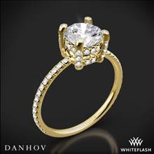 18k Yellow Gold Danhov CL120 Classico Single Shank Diamond Engagement Ring | Whiteflash