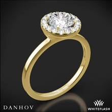 18k Yellow Gold Danhov LE104 Per Lei Single Shank Halo Solitaire Engagement Ring | Whiteflash
