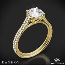 18k Yellow Gold Danhov LE133 Per Lei Diamond Engagement Ring | Whiteflash