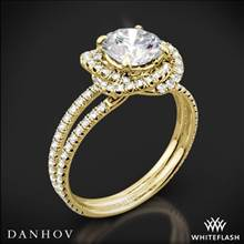 18k Yellow Gold Danhov SE100 Solo Filo Double Shank Diamond Engagement Ring | Whiteflash