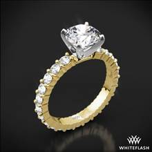 18k Yellow Gold Diamonds for an Eternity Diamond Engagement Ring with Platinum Head | Whiteflash