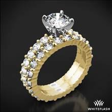 18k Yellow Gold Diamonds for an Eternity Diamond Wedding Set | Whiteflash