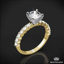 18k Yellow Gold Diamonds for an Eternity Half Diamond Engagement Ring with Platinum Head | Whiteflash