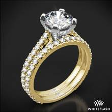 18k Yellow Gold Elena Diamond Wedding Set | Whiteflash