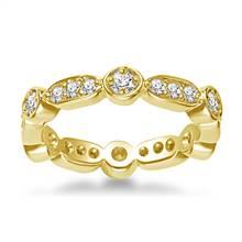 18K Yellow Gold Eternity Ring Having Round Diamonds In Prong Setting (0.57 - 0.67 cttw.) | B2C Jewels