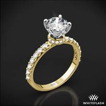 18k Yellow Gold Eternity Wrap Diamond Engagement Ring with White Gold Head | Whiteflash