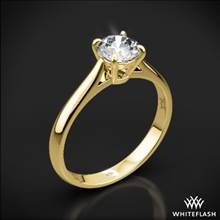 18k Yellow Gold Fine Line Solitaire Engagement Ring | Whiteflash