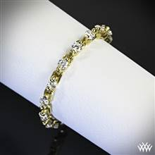 18k Yellow Gold Flexible Stack Ring with White Diamonds (0.44ctw) | Whiteflash