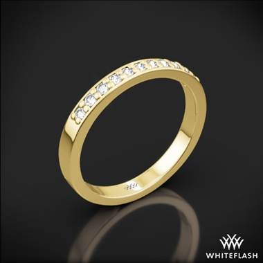 18k Yellow Gold Flush-Fit Diamond Wedding Ring