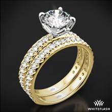 18k Yellow Gold Harmony Diamond Wedding Set | Whiteflash