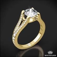 18k Yellow Gold Katie Pave Diamond Engagement Ring | Whiteflash