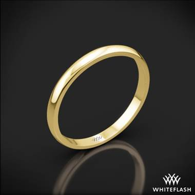 18k Yellow Gold Knife-Edge Wedding Ring
