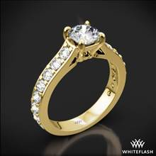 18k Yellow Gold Magnolia Diamond Engagement Ring | Whiteflash