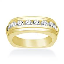 18K Yellow Gold Men's Diamond Ring (1 1/2 cttw.) | B2C Jewels