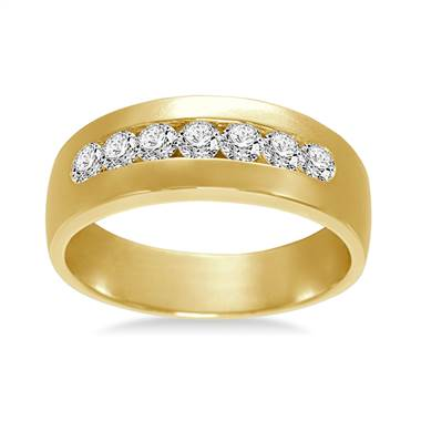 18K Yellow Gold Mens Diamond Ring (5/8 cttw.)