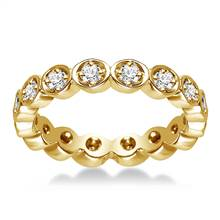 18K Yellow Gold Pave Set Diamond Eternity Ring (0.32 - 0.38 cttw.) | B2C Jewels