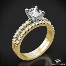 18k Yellow Gold Petite Diamond Wedding Set | Whiteflash