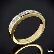 18k Yellow Gold Princess Channel-Set Diamond Wedding Ring | Whiteflash