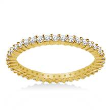 18K Yellow Gold Prong-Set Diamond Eternity Ring For Ladies Diamond Band (0.53 - 0.62 cttw) | B2C Jewels