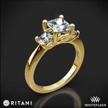 18k Yellow Gold Ritani 1PCZ1237P Three Stone Engagement Ring for Princess | Whiteflash