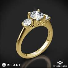 18k Yellow Gold Ritani 1RZ1015P Three Stone Engagement Ring | Whiteflash