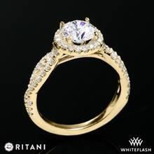 18k Yellow Gold Ritani 1RZ1318  Diamond Engagement Ring | Whiteflash