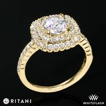 18k Yellow Gold Ritani 1RZ1336  Diamond Engagement Ring | Whiteflash
