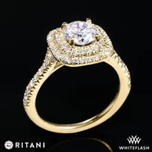 18k Yellow Gold Ritani 1RZ1338  Diamond Engagement Ring | Whiteflash