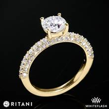 18k Yellow Gold Ritani 1RZ1340  Diamond Engagement Ring | Whiteflash
