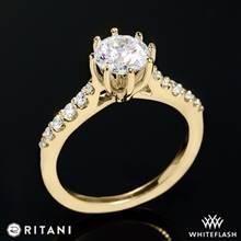 18k Yellow Gold Ritani 1RZ1345  Diamond Engagement Ring | Whiteflash