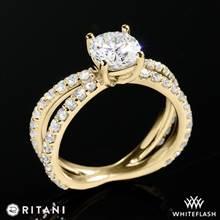 18k Yellow Gold Ritani 1RZ1348  Diamond Engagement Ring | Whiteflash