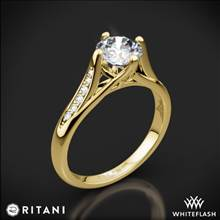 18k Yellow Gold Ritani 1RZ1379 Vintage Tulip Diamond Engagement Ring | Whiteflash