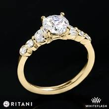 18k Yellow Gold Ritani 1RZ1508  Diamond Engagement Ring | Whiteflash