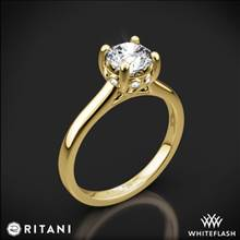 18k Yellow Gold Ritani 1RZ2465 Surprise Diamond Solitaire Engagement Ring | Whiteflash