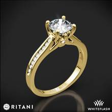 18k Yellow Gold Ritani 1RZ2487 Channel-Set Diamond Engagement Ring | Whiteflash