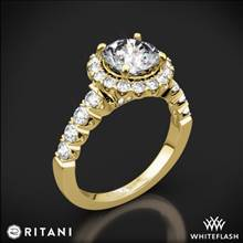 18k Yellow Gold Ritani 1RZ2720 Masterwork Halo Diamond Engagement Ring | Whiteflash